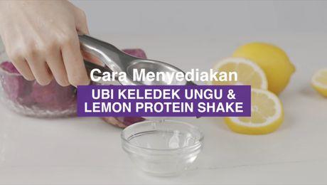 Resepi Asia - Ubi Keledek Ungu & Lemon Protein Shake