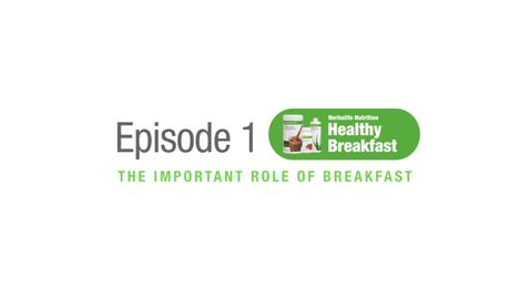 EP01: Healthy Breakfast Training - The Important Role of Breakfast
