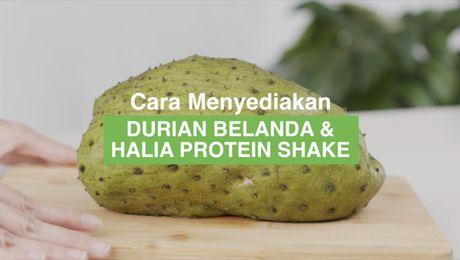 Resepi Asia - Durian Belanda & Halia Protein Shake