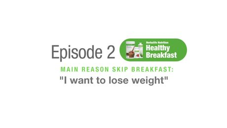 EP02: Healthy Breakfast Training - I Want to Lose Weight