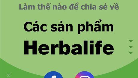 Làm thế nào để chia sẻ về các sản phẩm Herbalife