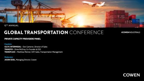 Cowen's 12th Annual Global Transport Conference | Private Capacity Panel