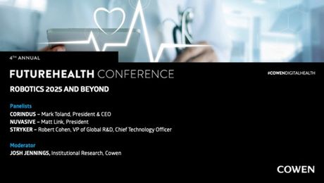 Cowen's 4th Annual FutureHealth Conference | Robotics 2025 and Beyond Panel