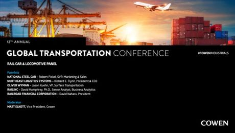 Cowen's 12th Annual Global Transport Conference | Rail Car & Locomotive Panel