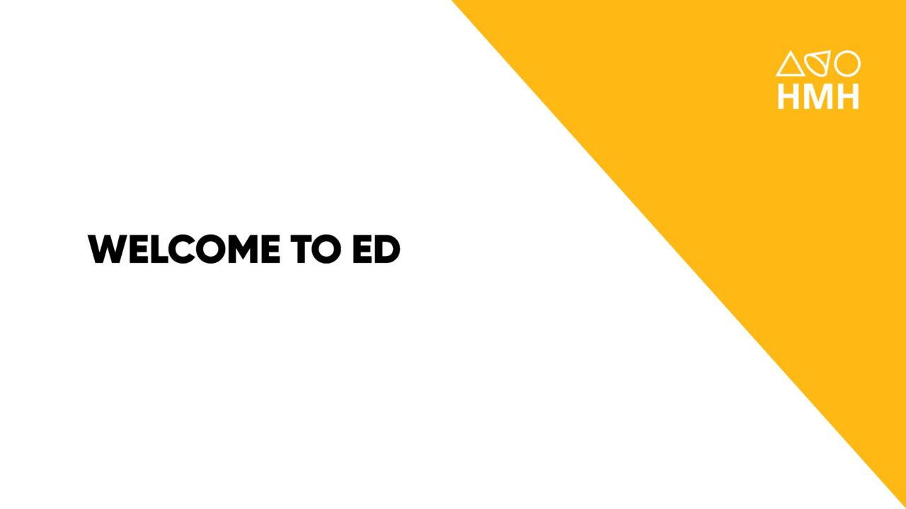 Welcome to Ed