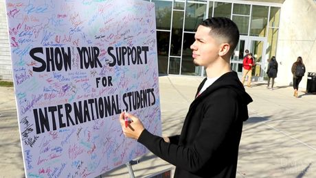 UMass Amherst Students Show Support for International Community