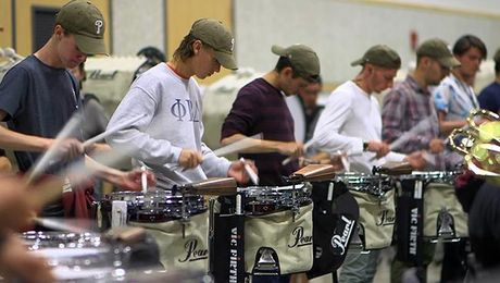 Minuteman Marching Band: Drum Line