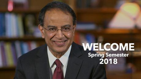 Chancellor Subbaswamy's Welcome to Spring Semester 2018 at UMass Amherst