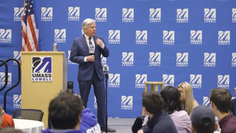 On Campus: President Meehan visits UMass Lowell