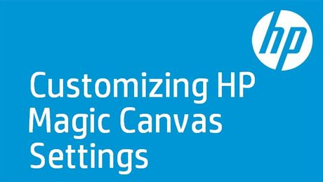 Customizing HP Magic Canvas Settings