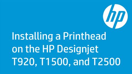 Installing a Printhead on the HP Designjet T920, T1500, and T2500
