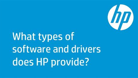 What Types of Software and Drivers Does HP Provide?