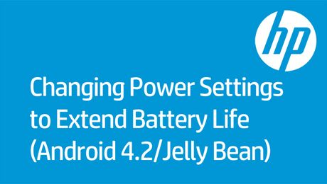 Changing Power Settings to Extend Battery Life (Android 4.2/Jelly Bean)