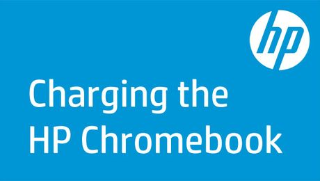 Charging the HP Chromebook