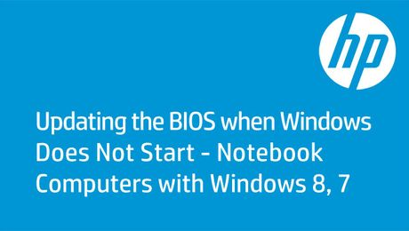 Updating the BIOS when Windows Does Not Start - Notebook Computers with Windows 8, 7