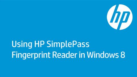 Using HP SimplePass Fingerprint Reader in Windows 8