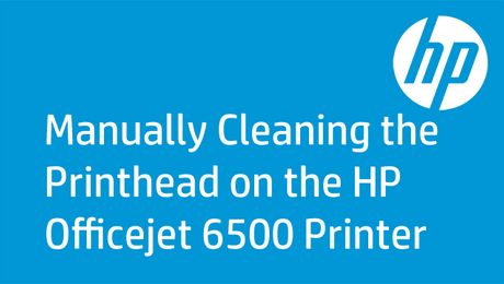 Manually Cleaning the Printhead on the HP Officejet 6500 Printer