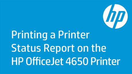 Printing a Printer Status Report on the HP OfficeJet 4650 Printer