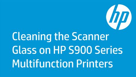 Cleaning the Scanner Glass on HP S900 Series Multifunction Printers