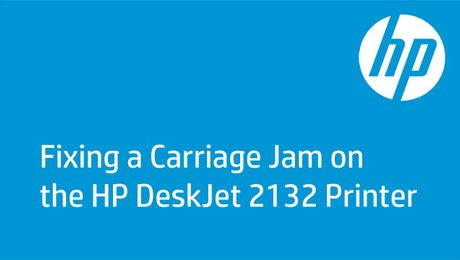 Fixing a Carriage Jam on the HP DeskJet 2132 Printer