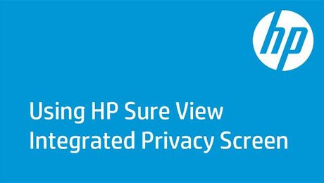 Using HP Sure View Integrated Privacy Screen on the HP EliteBook 1040 G3
