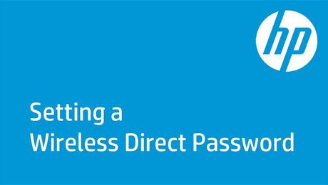 Setting a Wireless Direct Password on HP Enterprise Printers
