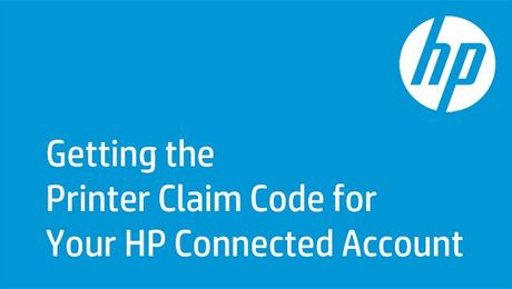 Getting the Printer Claim Code for Your HP Connected Account on HP Printers