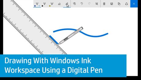 Drawing With Windows Ink Workspace Using a Digital Pen