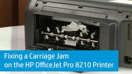Fixing a Carriage Jam on the HP OfficeJet Pro 8210 Printer