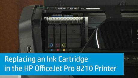 Replacing an Ink Cartridge in the HP OfficeJet Pro 8210 Printer