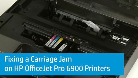 Fixing a Carriage Jam on HP OfficeJet Pro 6900 Printers