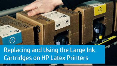 Replacing and Using the Large Ink Cartridges on HP Latex Printers