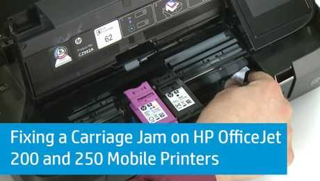 Fixing a Carriage Jam on HP OfficeJet 200 and 250 Mobile Printers