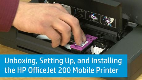 Unboxing, Setting Up, and Installing the HP OfficeJet 200 Mobile Printer