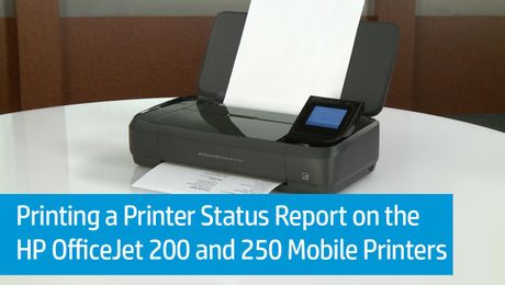 Printing a Printer Status Report on the HP OfficeJet 200 and 250 Mobile Printers