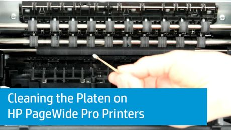 Cleaning the Platen on HP PageWide Pro Printers
