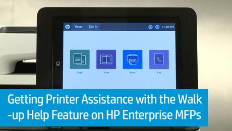 Getting Printer Assistance with the Walk-up Help Feature on HP Enterprise MFPs