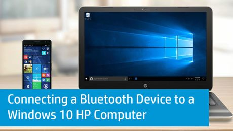 Connecting a Bluetooth Device to a Windows 10 HP Computer