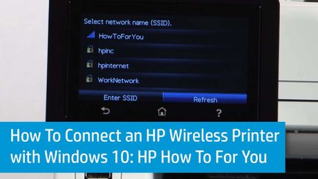 how to connect wireless printer tohenbn