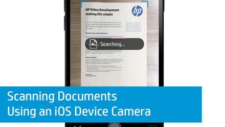 Scanning Documents Using an iOS Device Camera