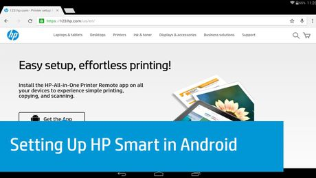 Setting Up HP Smart in Android