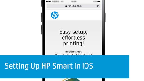 Setting Up HP Smart in iOS