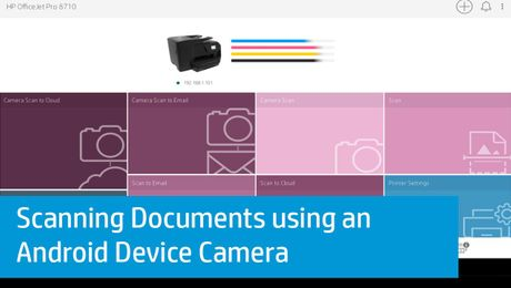Scanning Documents using an Android Device Camera (HP Smart App)