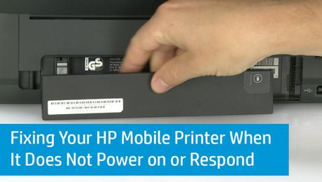 Fixing Your HP Mobile Printer When It Does Not Power on or Respond
