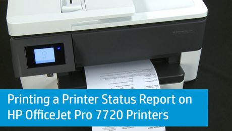 Printing A Printer Status Report On HP OfficeJet Pro 7720 Printers