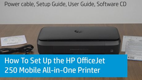 How To Set Up the HP OfficeJet 250 Mobile All-in-One Printer