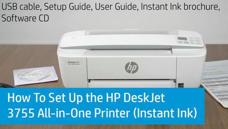 How To Set Up the HP DeskJet 3755 All-in-One Printer (Instant Ink)