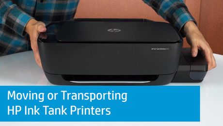 Moving or Transporting HP Ink Tank Printers