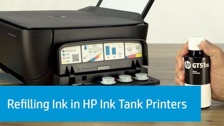 Refilling Ink in HP Ink Tank Printers