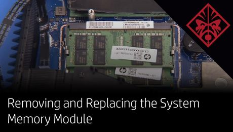 Removing and Replacing the System Memory Module on the OMEN by HP VR PC Pack